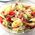 MEDITERANNEAN PASTA SALAD 2 150x150 - Chicken Salad with Greek Yogurt, Apples and Pecans
