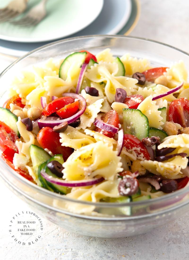 Mediterranean Bowtie Pasta Salad
