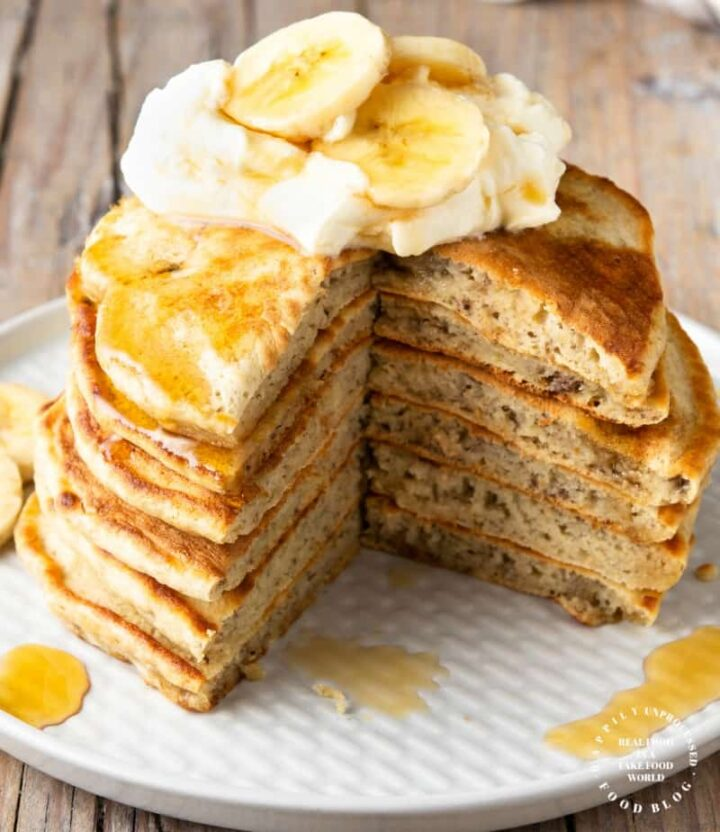 banana pancakes 3 720x832 - 4 Ingredient Fluffy Banana Pancakes