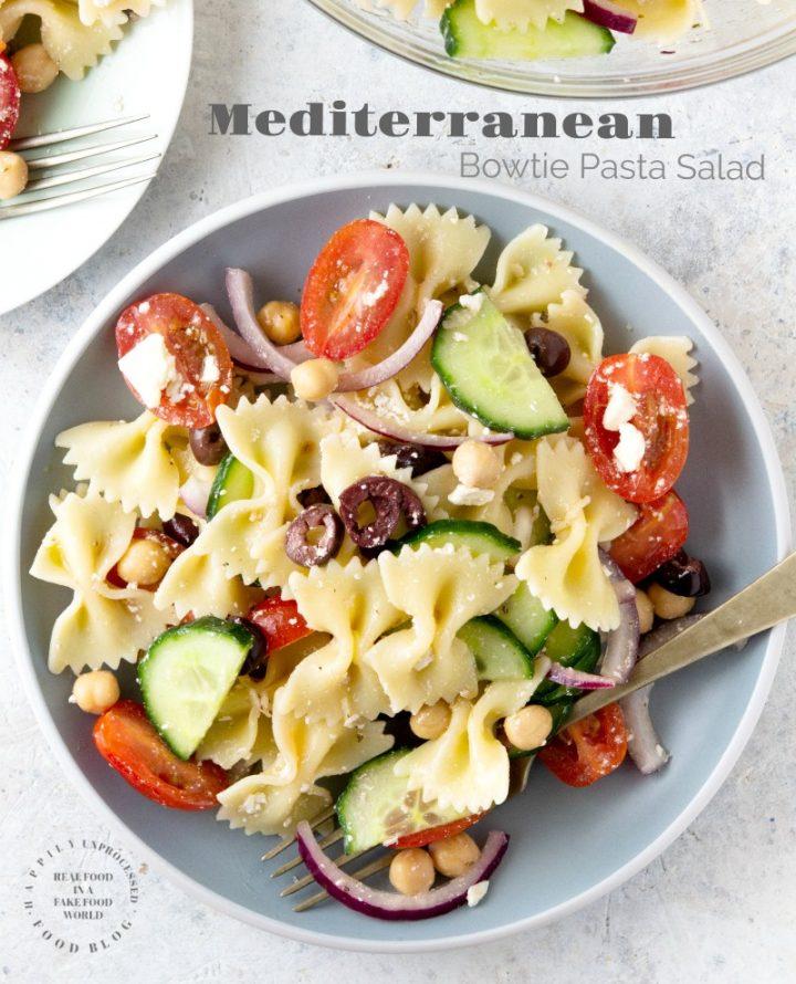 mediterannean pasta salad 3pin 720x890 - Mediterranean Bowtie Pasta Salad