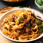 Classic Bolognese Sauce with Tagliatelle (step by step)