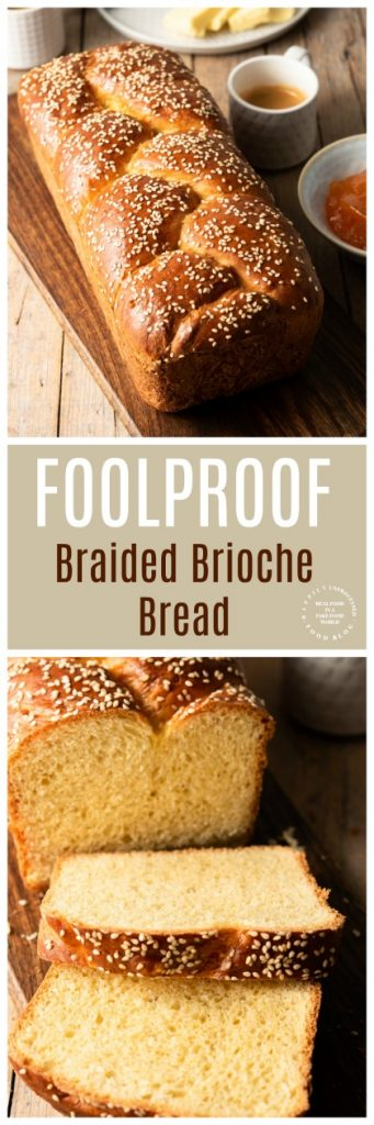 FOOLPROOF BRIOCHE BREAD - this braided brioche bread may look fancy but it's easy as pie to make #bread #homemadebread #brioche #cleaneating #healthyrecipes #happilyunprocessed
