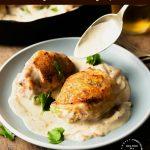 Chicken Thighs in a Creamy Dijon Mustard Sauce