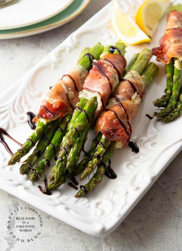 Prosciutto Asparagus 1 720x993 - Prosciutto Wrapped Asparagus with Garlic & Herb Cheese