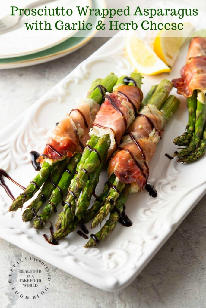 Prosciutto Asparagus 1 PIN 1 683x1024 - Prosciutto Wrapped Asparagus with Garlic & Herb Cheese
