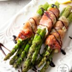 Prosciutto Wrapped Asparagus with Garlic & Herb Cheese