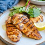 The Best Grilled Chicken Marinade ever! #marinade #chicken #grilledchicken #easyrecipes #chickenrecipes #happilyunprocessed