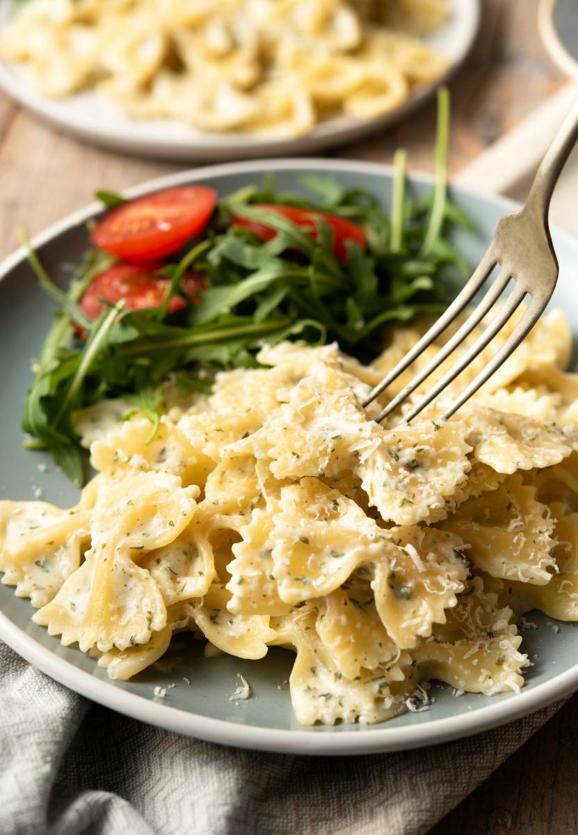 Garlic and Herb Bow Tie Pasta 2.jpg - Garlic & Herb Bowtie Pasta