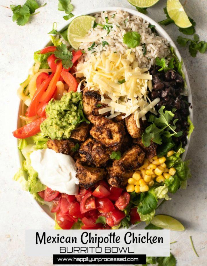 burrito bowl 1pin.jpg 720x926 - Mexican Chipotle Chicken Burrito Bowl