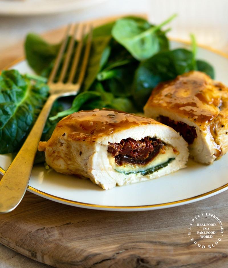 STUFFED CHICKEN CAPRESE.jpg - Stuffed Chicken Caprese with a Reduced Balsamic Glaze