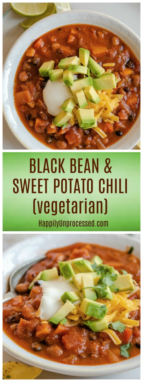 VEGETARIAN BLACK BEAN SWEET POTATO CHILI.jpg - Vegetarian Sweet Potato and Black Bean Chili