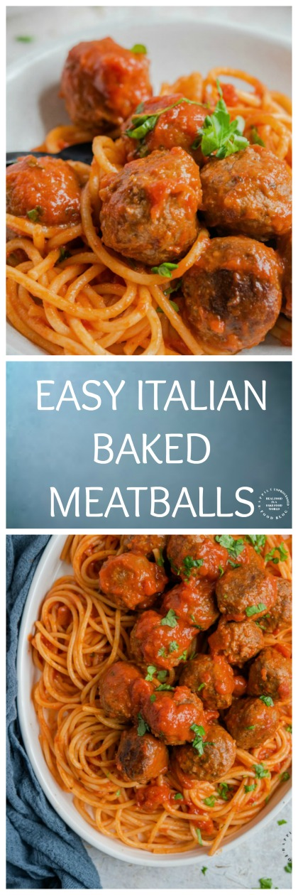 EASY ITALIAN BAKED MEATBALLS pin.jpg - The Best Baked Meatball Recipe