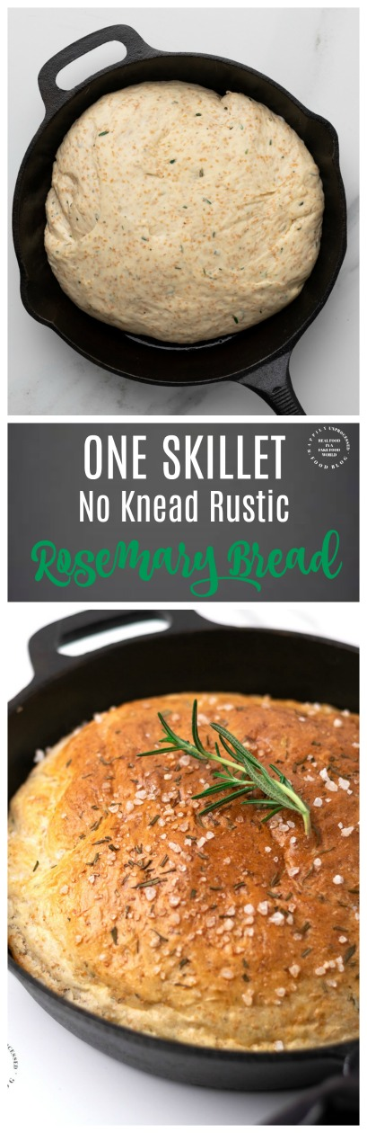 No Knead Rosemary Bread - this bread is the simpliest to make in one skillet
