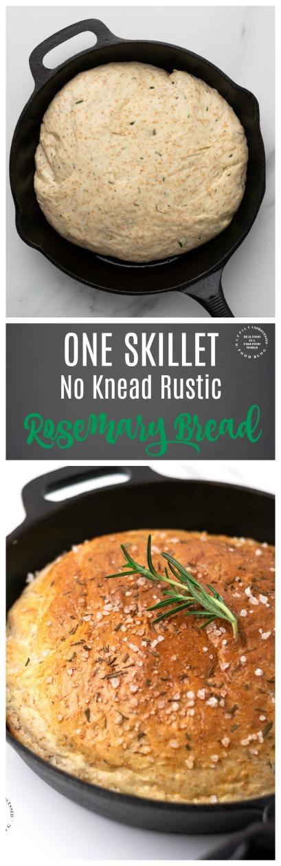 NO KNEAD RUSTIC ROSEMARY BREAD PINa.jpg - No Knead Rosemary Skillet Bread (with video)