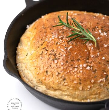 ROSEMARY SKILLET BREAD.jpg 360x361 - No Knead Rosemary Skillet Bread (with video)
