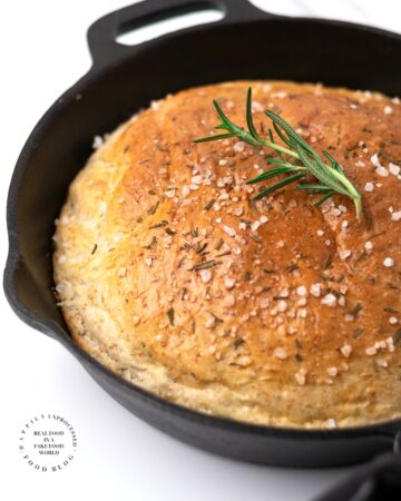 ROSEMARY SKILLET BREAD.jpg 360x450 - No Knead Rosemary Skillet Bread (with video)