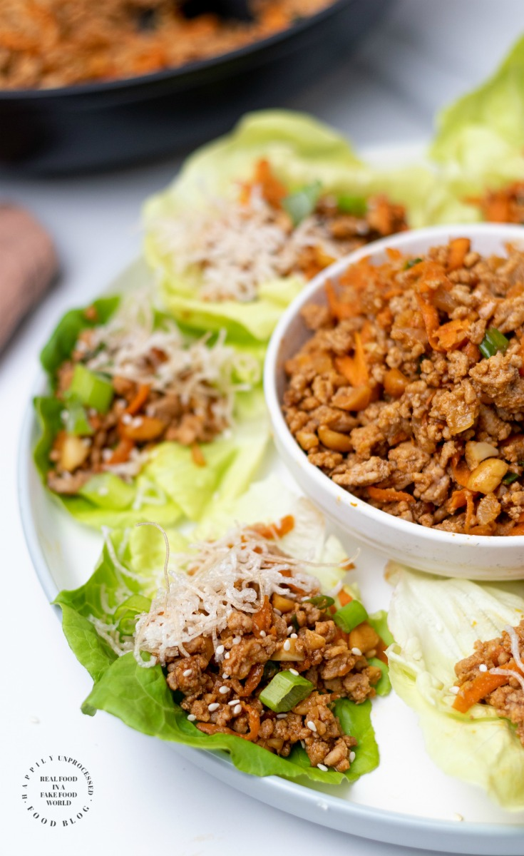 Asian Turkey Lettuce Wraps PF Changs - Low Carb Asian Turkey Lettuce Wraps (with video)