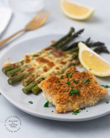 Weeknight Baked Cod with Cheesy Asparagus