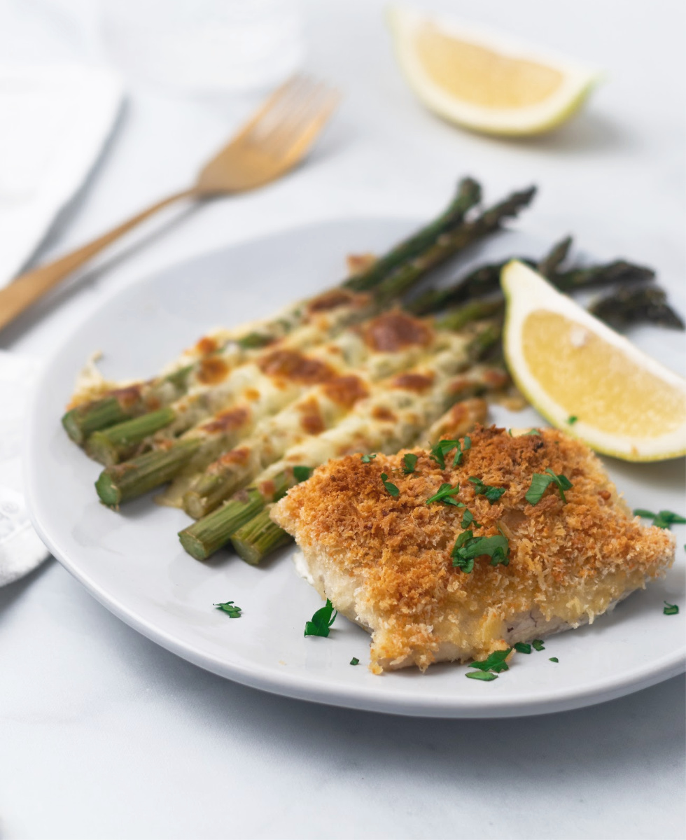 Baked Cod edited - Easy Baked Cod with Parmesan Breadcrumb Topping