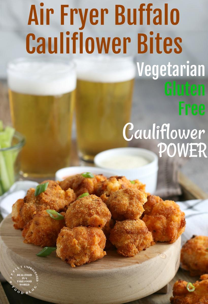 Air Fryer Buffalo Cauliflower Bites pin1.jpg - AirFryer Buffalo Cauliflower Bites