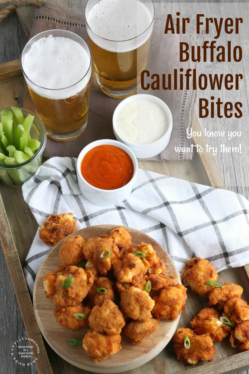 Air Fryer Buffalo Cauliflower Bites pin2 - AirFryer Buffalo Cauliflower Bites