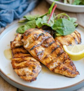 Best Grilled chicken marinade feature 275x300 - Chicken and Rice Enchillada Skillet