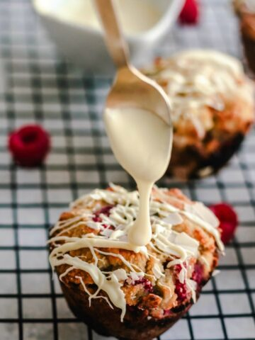 Low carb keto raspberry muffins
