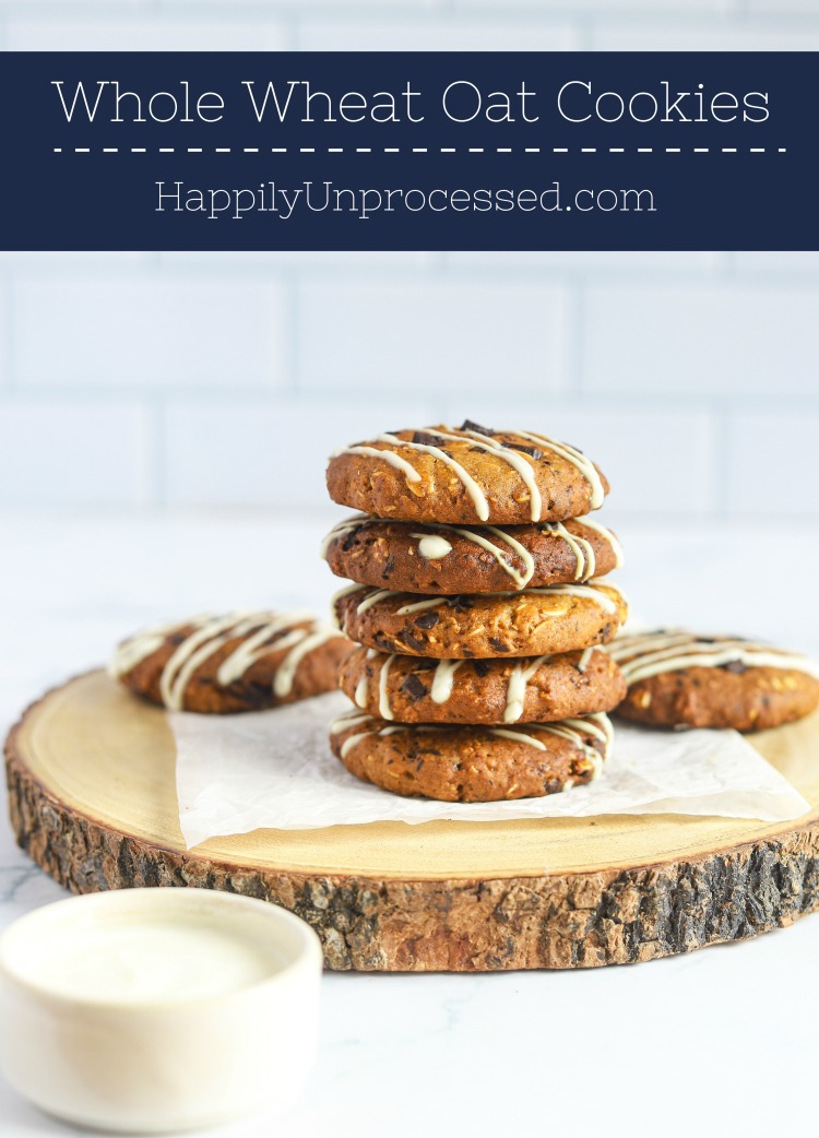 WHOLE WHEAT OAT COOKIES pin - Whole Wheat Oat Cookies