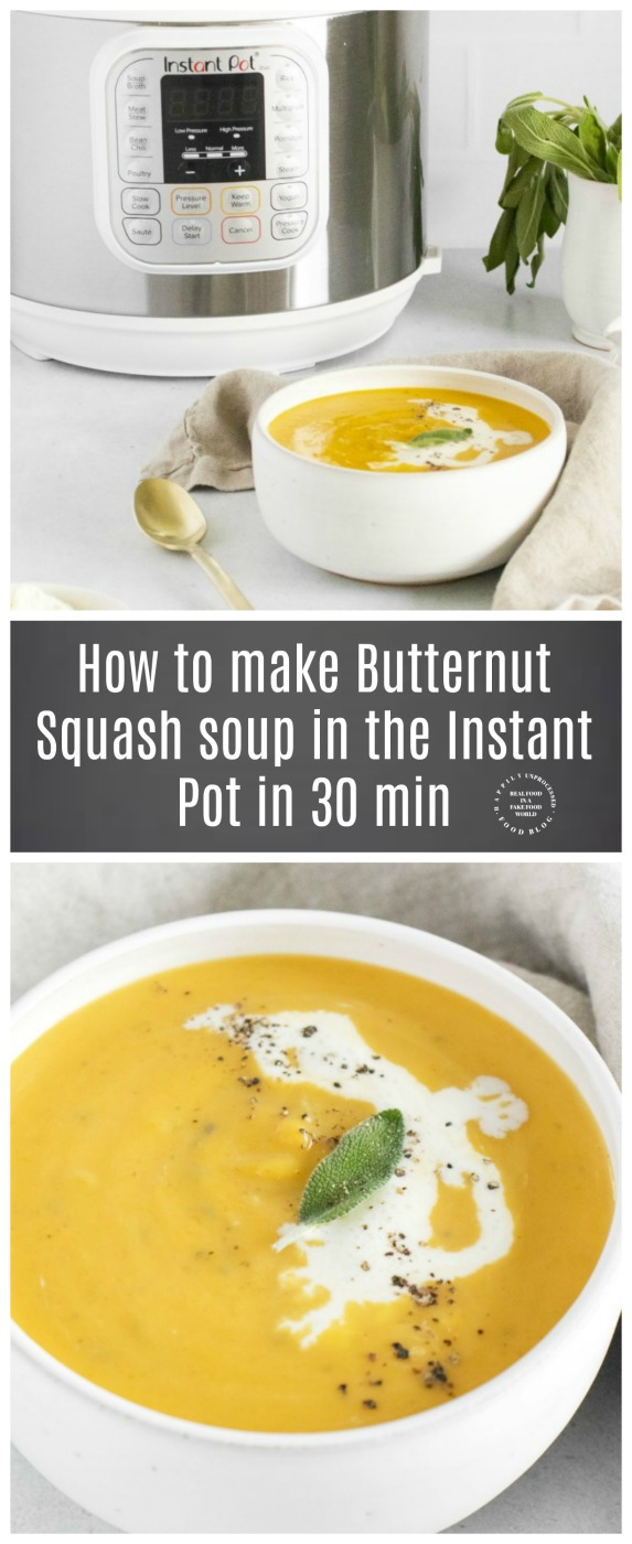 How to make butternut squash soup using the instant pot in under 30 minutes  - Instant Pot Butternut Squash Soup