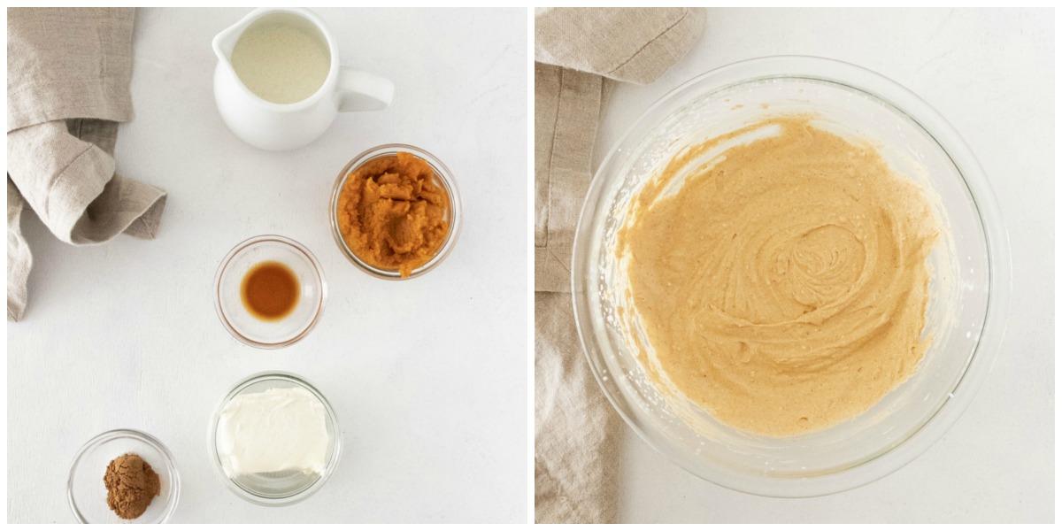 How to make mascarpone filling for pumpkin tiramisu - Pumpkin Tiramisu (single serving)