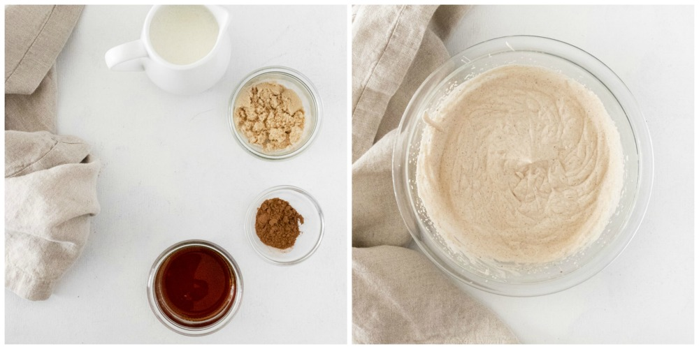 Maple and pumpkin spiced whipped cream for Pumpkin Tiramisu - Pumpkin Tiramisu (single serving)