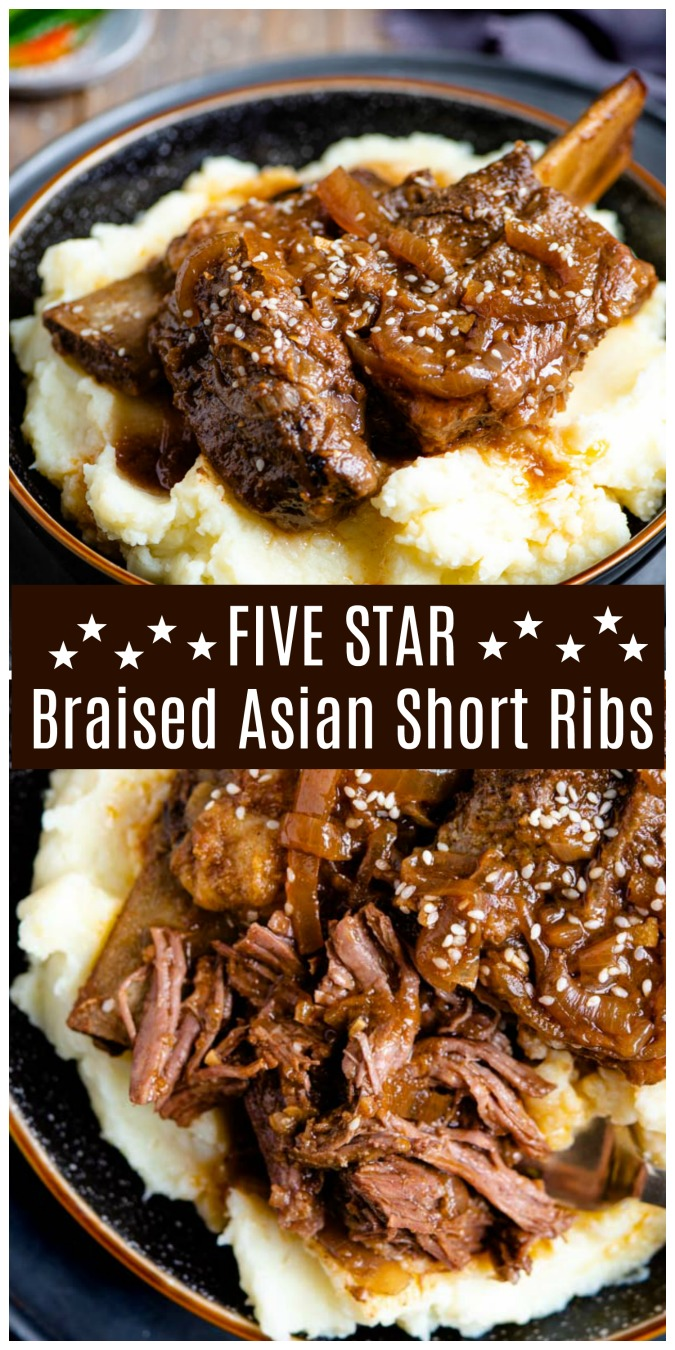 Five Star Braised Asian Short Ribs probably the best thing you will ever eat shortribs braisedshortribs happilyunprocessed - Five Star Asian Braised Short Ribs