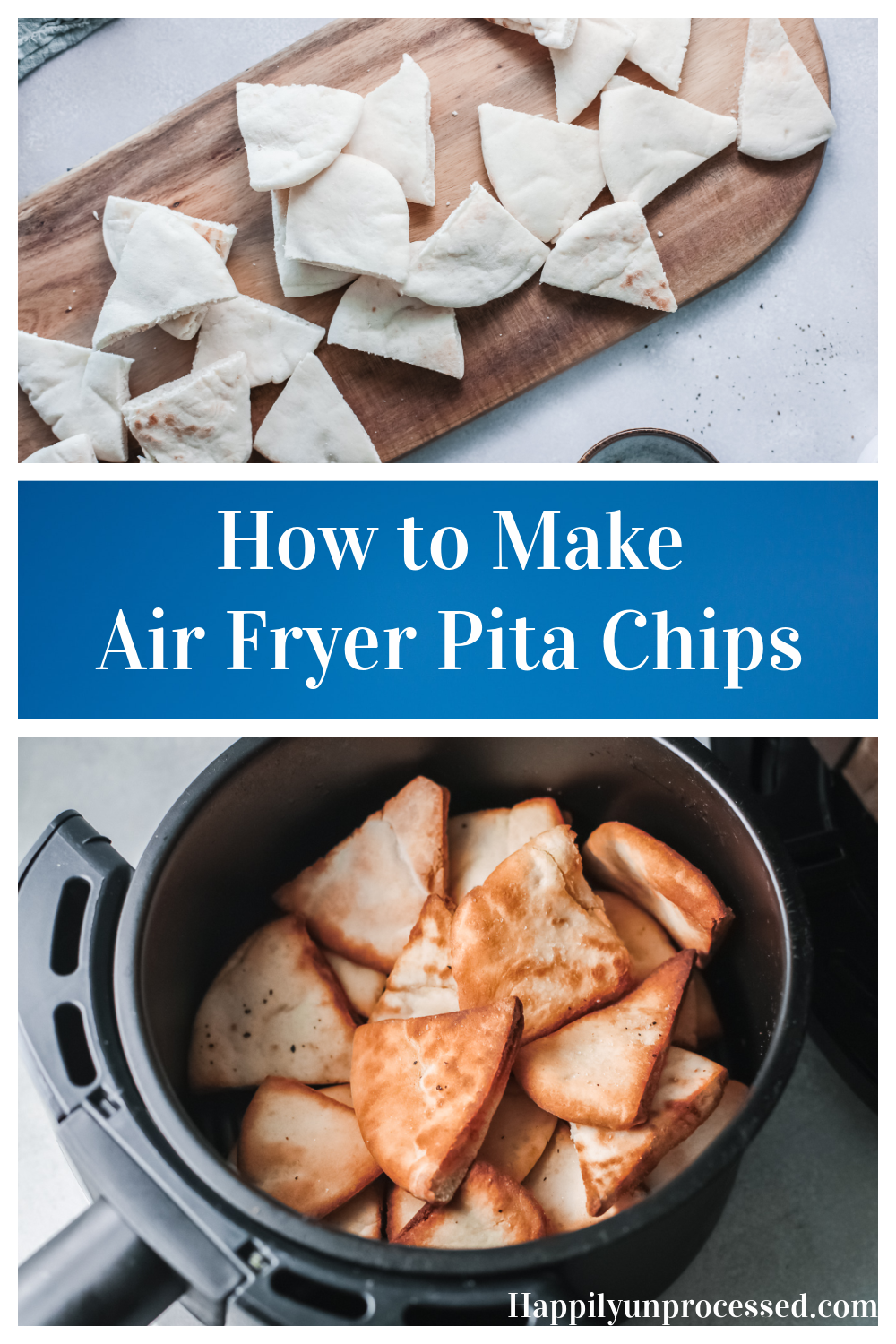 Crispy air fryer pita chips are much healthier than store bought - Air Fryer Pita Chips