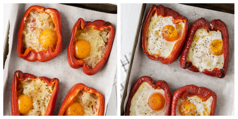Egg stuffed breakfast peppers - Egg Stuffed Breakfast Peppers