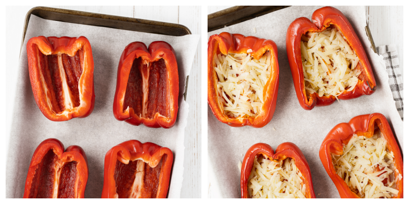 Egg stuffed red peppers - Egg Stuffed Breakfast Peppers
