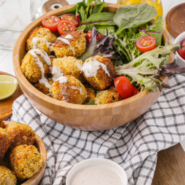 How to make homemade Falafel bowls using dried chickpeas