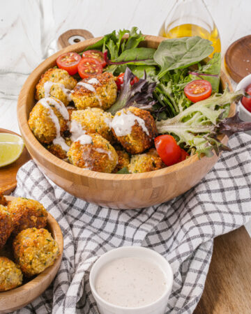 How to make homemade Falafel bowls using dried chickpeas