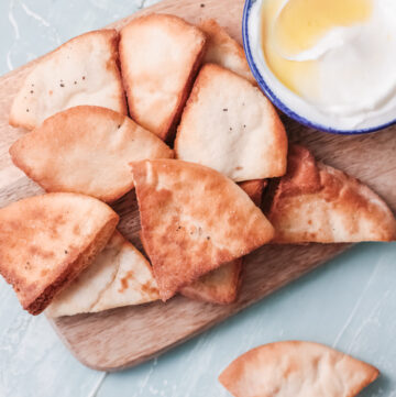 Air fryer pita chips are made so much healthier than store bought pita chips