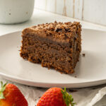 Almond Flour chocolate ganache cake is low sodium and gluten free