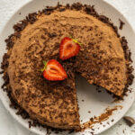 Almond and coconut flour chocolate cake with chocolate gananche 150x150 - Flourless 6 Ingredient Almond Butter Brownies