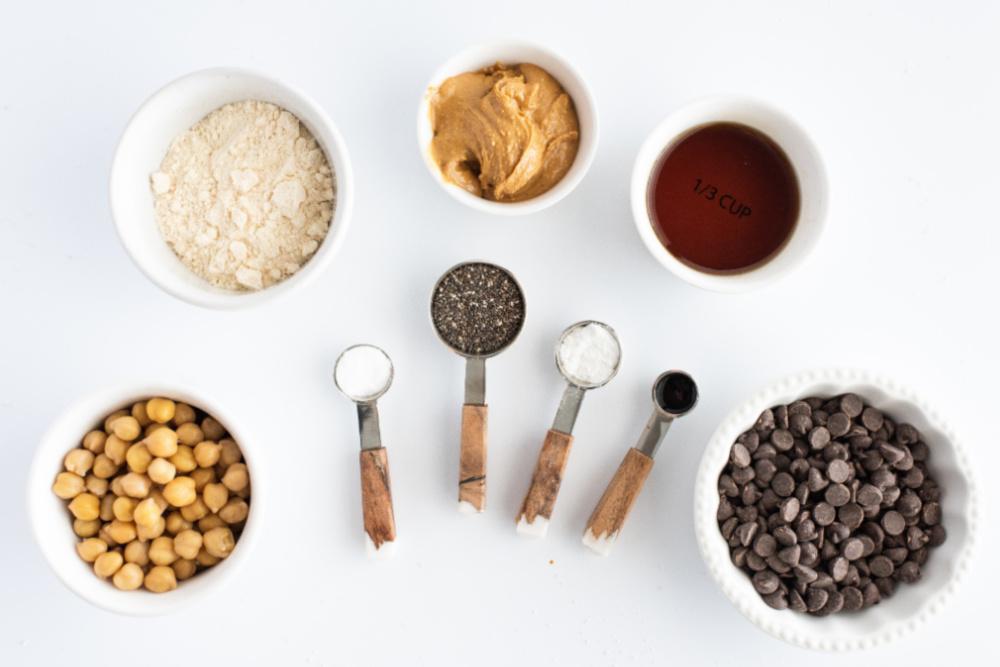 Blondie Brownie Chickpea Ingredients - Chocolate Chip Chickpea Blondie Brownies
