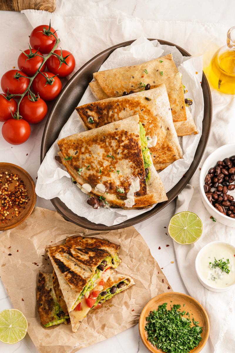 TIK TOK GUACAMOLE QUESADILLAS tiktokfood glutenfreequesadillas - TikTok Guacamole Quesadillas