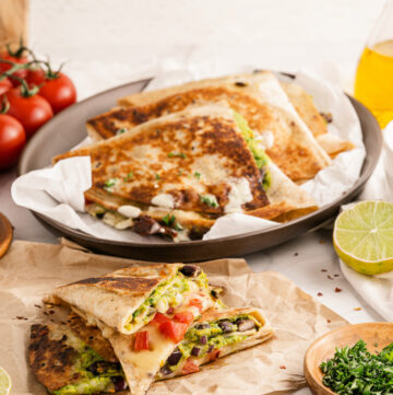 Tik Tok Guacamole Quesadillas are all the rage right now - vegetarian and plant based