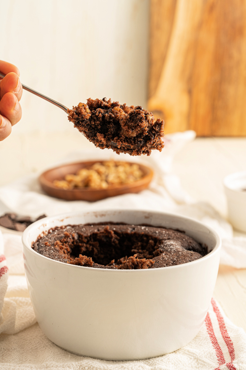 Vegan 60 second chocolate mug cake a delicious guilt free dessert made in minutes - Vegan Chocolate Brownie Mug Cake - ready in 60 seconds!