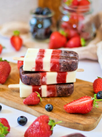 4th of July Creamsicles - only 8 ingredients to celebrate red, white and blue