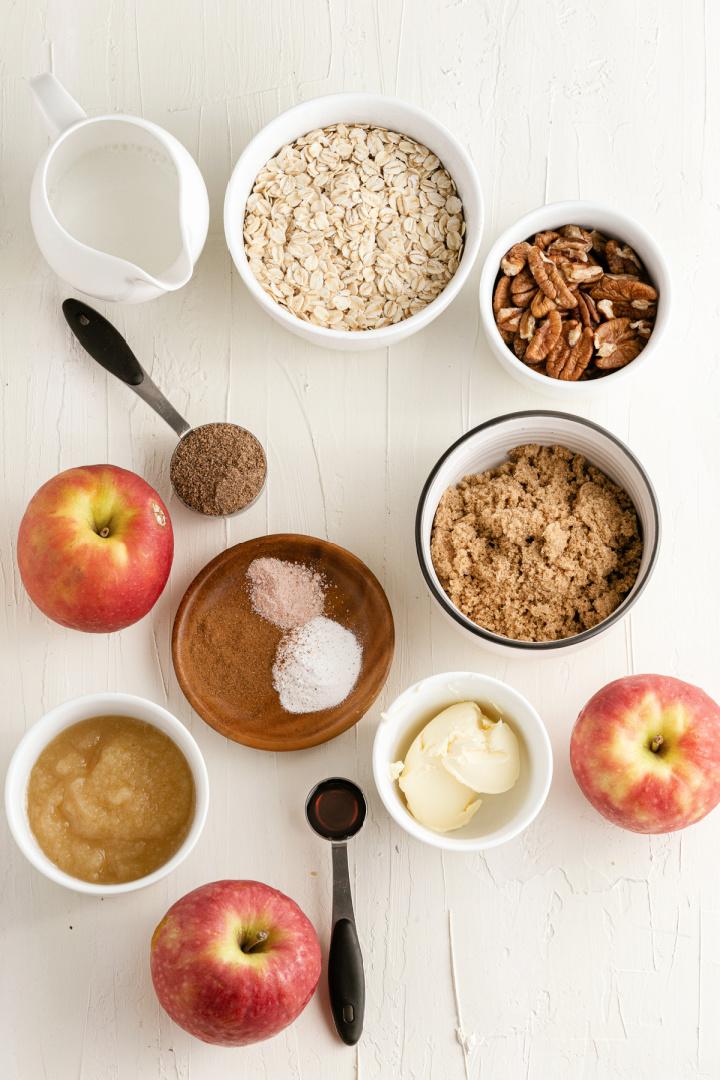 Baked Apple Oatmeal ingredients - Baked Apple Oatmeal