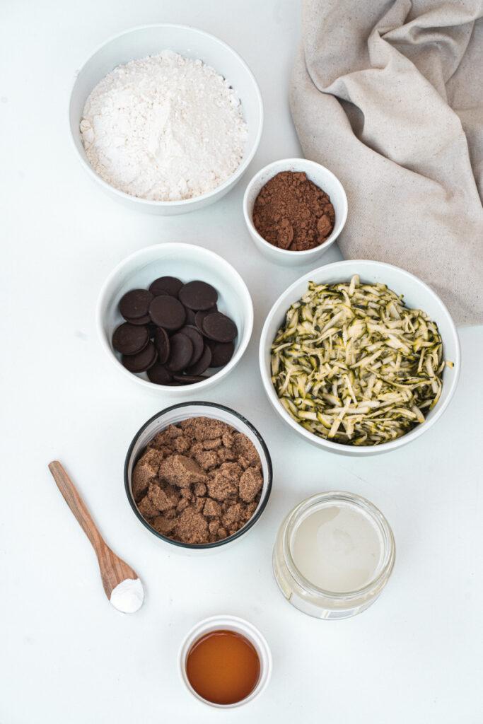 Healthy Zucchini Brownie ingredients 683x1024 - Irresistible Healthy Chocolate Zucchini Brownies
