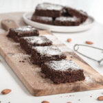 Healthy Zucchini Brownies with powdered sugar 150x150 - Irresistible Healthy Chocolate Zucchini Brownies