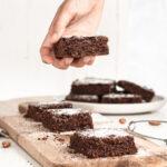 Healthy Zucchini Brownies with powdered sugar on top 150x150 - Healthy Dark Chocolate Coconut Bites