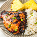 Homemade Huli Huli BBQ Chicken with grilled pineapple